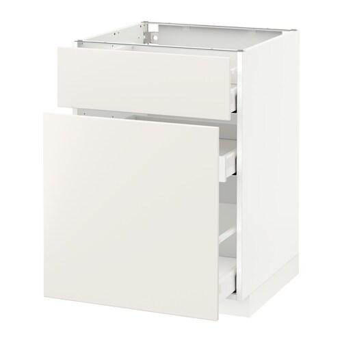 metod maximera l ment bas rangement coul tiroir blanc veddinge blanc 60x60 cm ikea. Black Bedroom Furniture Sets. Home Design Ideas