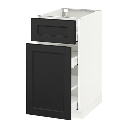 metod maximera l ment bas rangement coul tiroir blanc laxarby brun noir 40x60 cm ikea. Black Bedroom Furniture Sets. Home Design Ideas