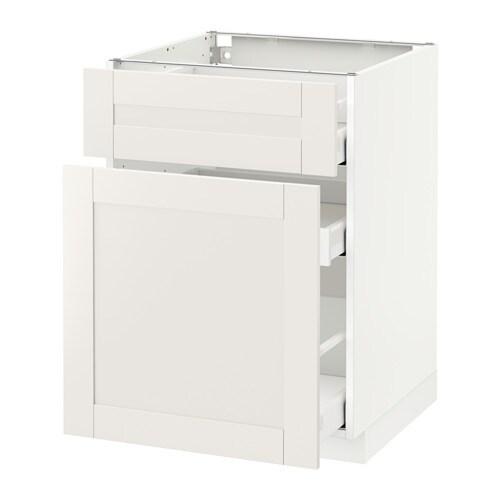 metod maximera l ment bas rangement coul tiroir blanc s vedal blanc 60x60 cm ikea. Black Bedroom Furniture Sets. Home Design Ideas