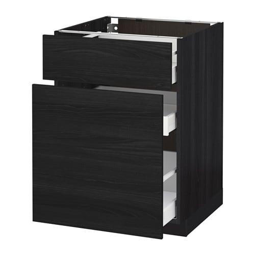 metod maximera l ment bas rangement coul tiroir effet bois noir tingsryd effet bois noir. Black Bedroom Furniture Sets. Home Design Ideas