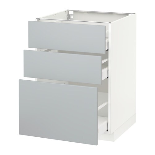 meuble 60x60 metod maximera l ment bas 3 tiroirs blanc veddinge gris 60x60 cm ikea