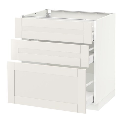 metod maximera l ment bas 3 tiroirs blanc s vedal blanc 80x60 cm ikea. Black Bedroom Furniture Sets. Home Design Ideas