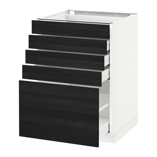 Metod maximera l ment bas 5 tiroirs blanc 60x60 cm for Element bas cuisine ikea