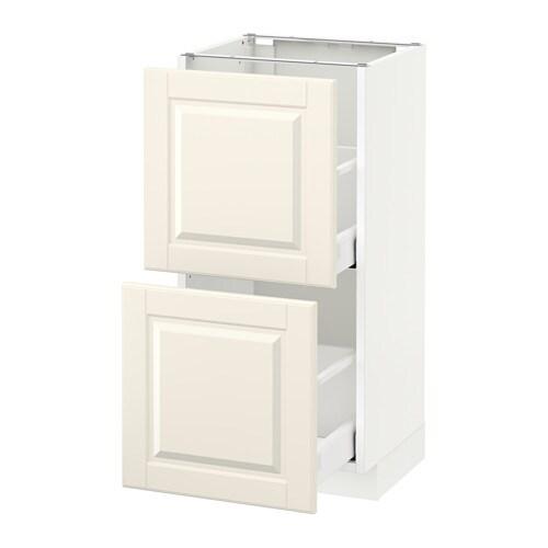 metod maximera l ment bas 2 tiroirs blanc bodbyn blanc cass 40x37 cm ikea. Black Bedroom Furniture Sets. Home Design Ideas