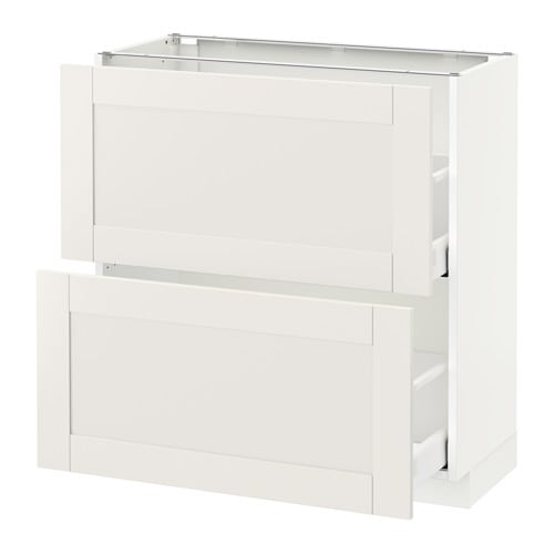 metod maximera l ment bas 2 tiroirs blanc s vedal blanc 80x37 cm ikea. Black Bedroom Furniture Sets. Home Design Ideas
