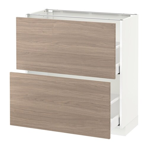 metod maximera l ment bas 2 tiroirs blanc 80x37 cm brokhult motif noyer gris clair ikea. Black Bedroom Furniture Sets. Home Design Ideas