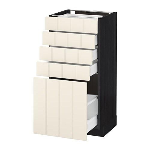 metod maximera l ment bas 5 tiroirs effet bois noir hittarp blanc cass 40x37 cm ikea. Black Bedroom Furniture Sets. Home Design Ideas