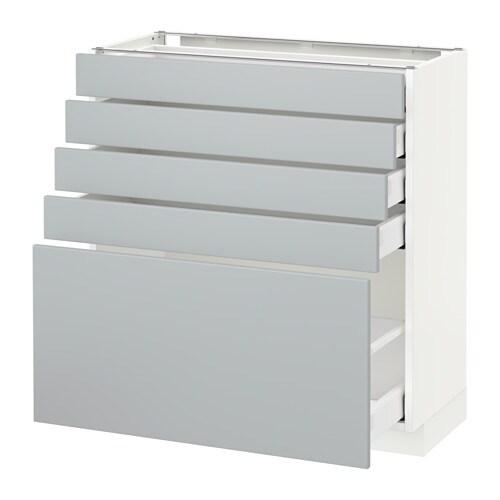 metod maximera l ment bas 5 tiroirs blanc veddinge gris 80x37 cm ikea. Black Bedroom Furniture Sets. Home Design Ideas