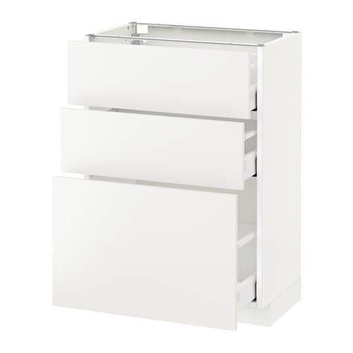 metod maximera l ment bas 3 tiroirs blanc 60x37 cm h ggeby blanc ikea. Black Bedroom Furniture Sets. Home Design Ideas