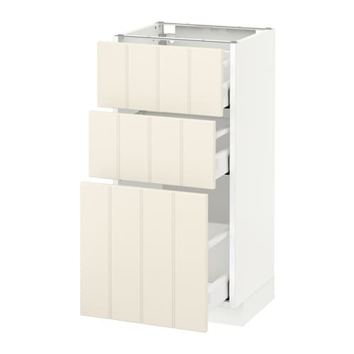 metod maximera l ment bas 3 tiroirs blanc hittarp blanc cass 40x37 cm ikea. Black Bedroom Furniture Sets. Home Design Ideas