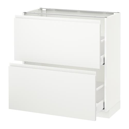 metod maximera l ment bas 2 tiroirs blanc voxtorp blanc mat 80x37 cm ikea. Black Bedroom Furniture Sets. Home Design Ideas