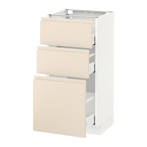 metod maximera l ment bas 3 tiroirs blanc 40x37 cm voxtorp beige clair ikea. Black Bedroom Furniture Sets. Home Design Ideas