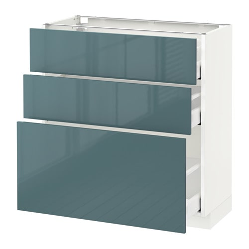 metod maximera l ment bas 3 tiroirs blanc kallarp brillant gris turquoise 80x37 cm ikea. Black Bedroom Furniture Sets. Home Design Ideas