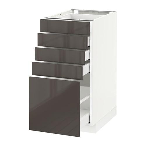 Metod maximera l ment bas 5 tiroirs blanc ringhult for Meuble 40x60