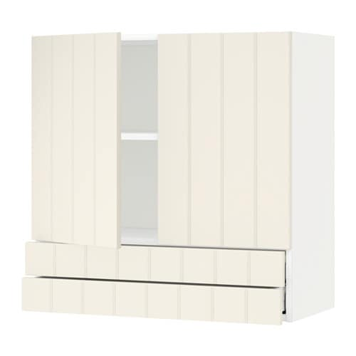 metod maximera l ment mural 2portes 2tiroirs blanc hittarp blanc cass 80x80 cm ikea. Black Bedroom Furniture Sets. Home Design Ideas