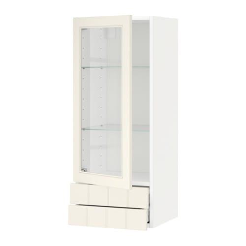 metod maximera l ment mural pte vitr e 2 tiroirs blanc hittarp blanc cass 40x100 cm ikea. Black Bedroom Furniture Sets. Home Design Ideas