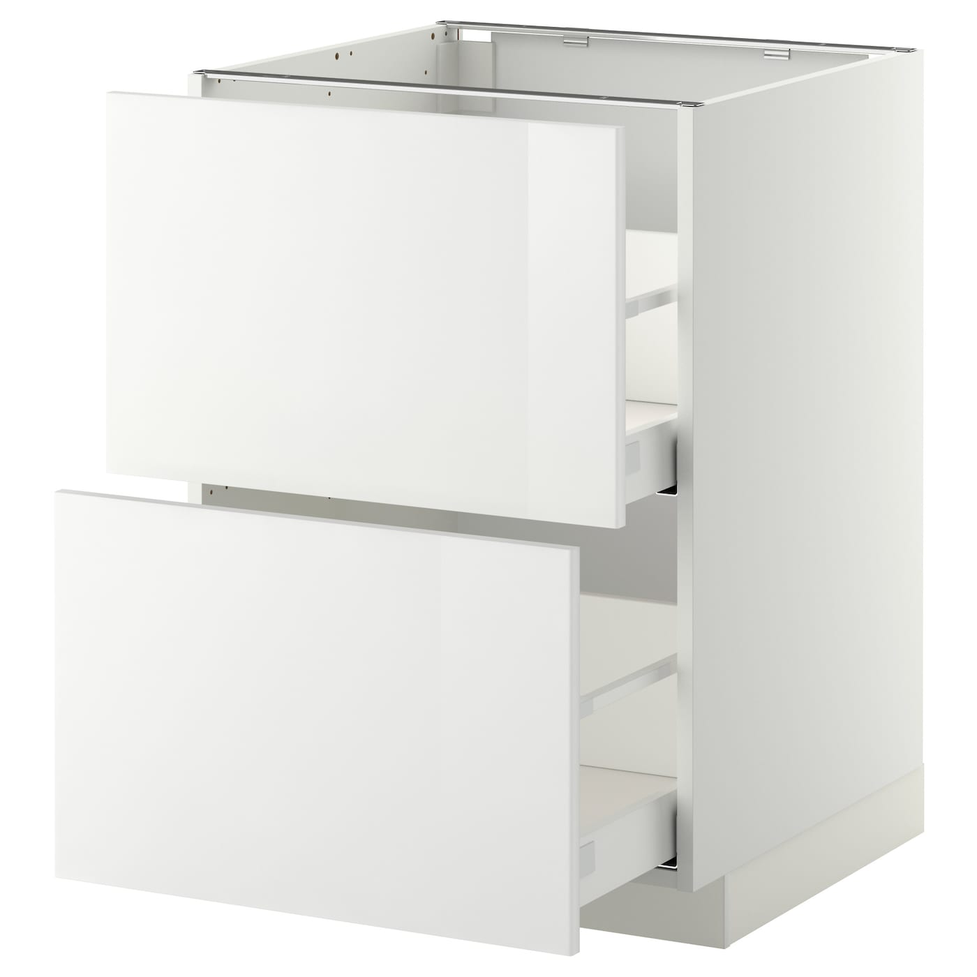 METOD / MAXIMERA Élt bas 14 faces/14 tiroirs hauts - blanc/Ringhult blanc  14x14 cm