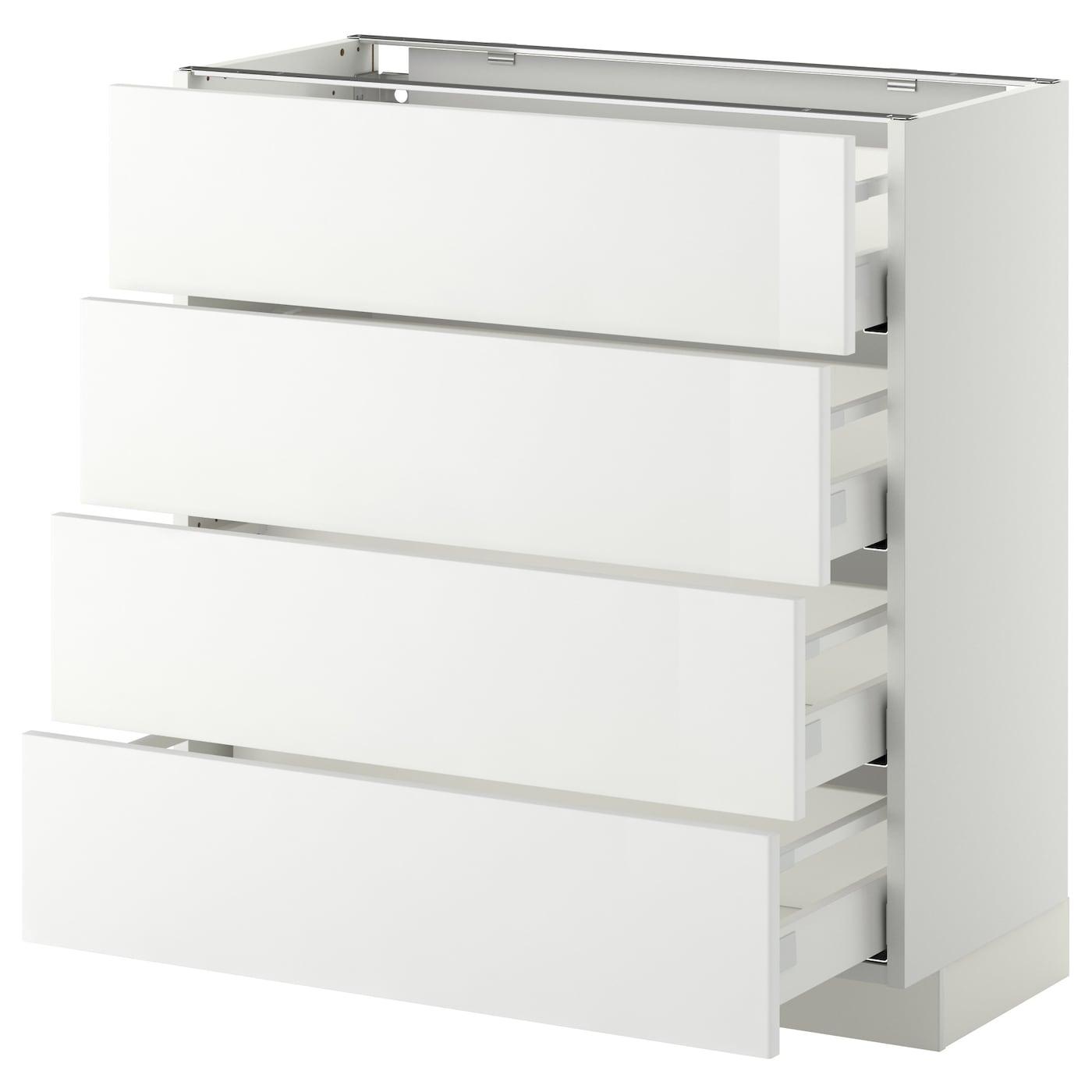 METOD / MAXIMERA Élt bas 15 faces/15 tiroirs - blanc/Ringhult blanc 15x15 cm