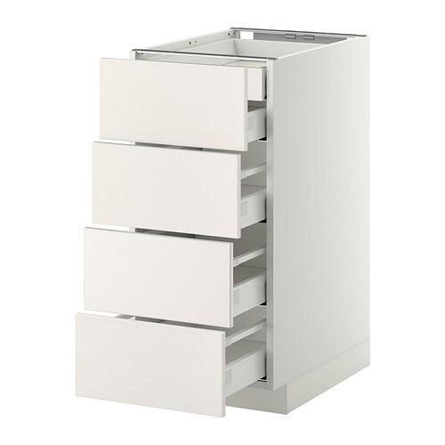 metod maximera lt bas 4faces 2tiroirs bas 3moyens blanc veddinge blanc 40x60 cm ikea