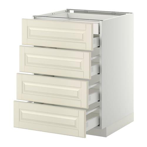 metod maximera lt bas 4faces 2tiroirs bas 3moyens blanc bodbyn blanc cass 60x60 cm ikea. Black Bedroom Furniture Sets. Home Design Ideas