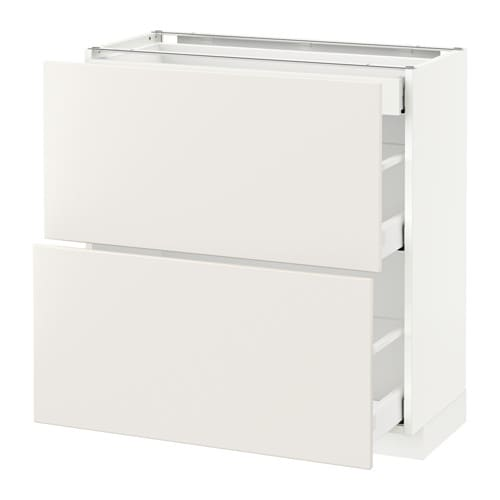 metod maximera lt bas 2 faces 3 tiroirs blanc veddinge blanc 80x37 cm ikea. Black Bedroom Furniture Sets. Home Design Ideas