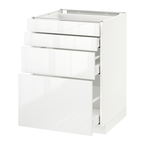 Metod maximera lt bas 4 faces 4 tiroirs blanc for Meuble 4 tiroirs ikea