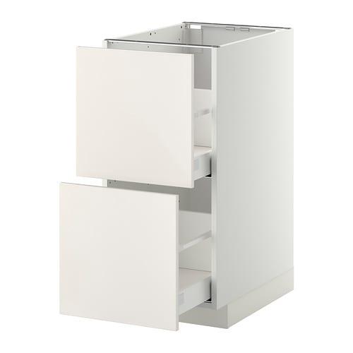 metod maximera lt bas 2 faces 2 tiroirs hauts blanc veddinge blanc 40x60 cm ikea. Black Bedroom Furniture Sets. Home Design Ideas