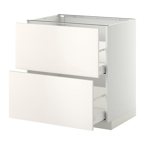Metod maximera lt bas 2 faces 2 tiroirs hauts blanc Tiroirs cuisine ikea