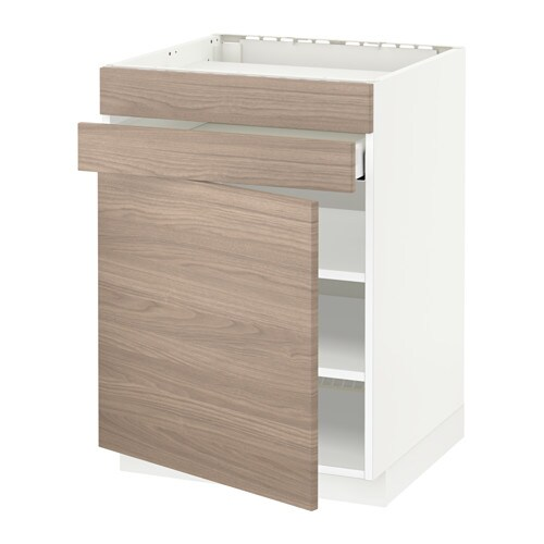 metod maximera lt bas four pte 2 faces 1 tiroir blanc brokhult motif noyer gris clair ikea. Black Bedroom Furniture Sets. Home Design Ideas