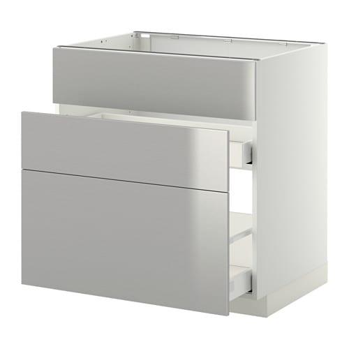 metod maximera lt bas pr vier 3faces 2tiroirs blanc grevsta acier inoxydable 80x60 cm ikea. Black Bedroom Furniture Sets. Home Design Ideas