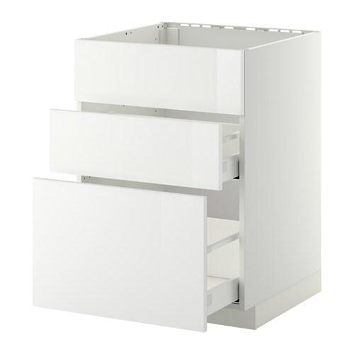 metod maximera lt bas pr vier 3faces 2tiroirs blanc ringhult brillant blanc 60x60 cm ikea. Black Bedroom Furniture Sets. Home Design Ideas