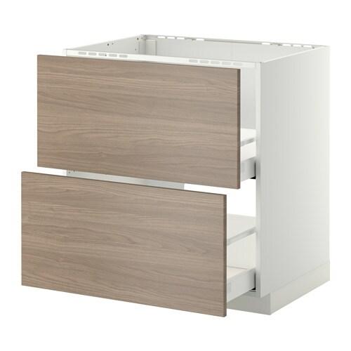 metod maximera lt bas pr vier 2faces 2tiroirs blanc brokhult motif noyer gris clair. Black Bedroom Furniture Sets. Home Design Ideas