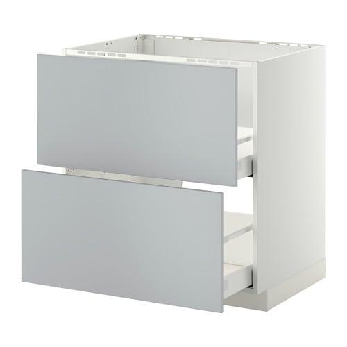 metod maximera lt bas pr vier 2faces 2tiroirs blanc veddinge gris 80x60 cm ikea. Black Bedroom Furniture Sets. Home Design Ideas