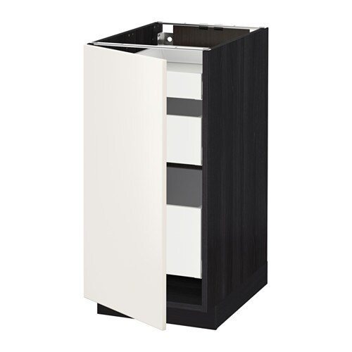 metod maximera lt bas 1 pte 3 tir effet bois noir veddinge blanc 40x60 cm ikea. Black Bedroom Furniture Sets. Home Design Ideas