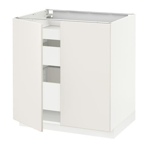 metod maximera lt bas 2 ptes 3 tir blanc veddinge blanc ikea. Black Bedroom Furniture Sets. Home Design Ideas