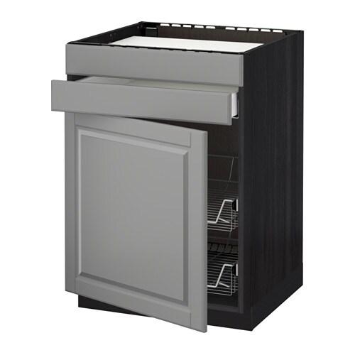 metod maximera lt bas tbl cuiss tiroir 2corb fil effet bois noir bodbyn gris ikea. Black Bedroom Furniture Sets. Home Design Ideas