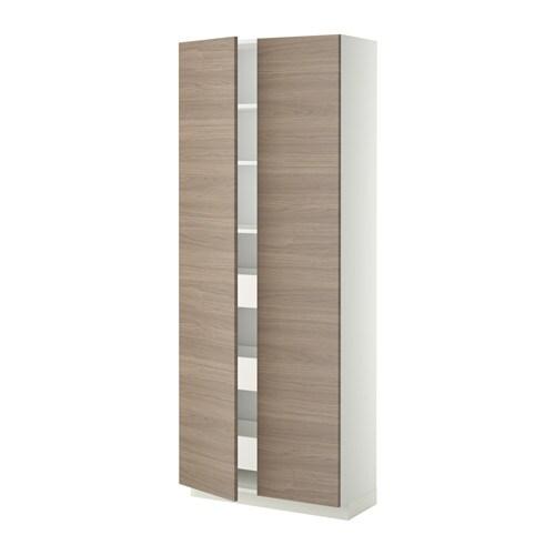 metod maximera lt haut tiroirs 2portes blanc brokhult motif noyer gris clair ikea. Black Bedroom Furniture Sets. Home Design Ideas