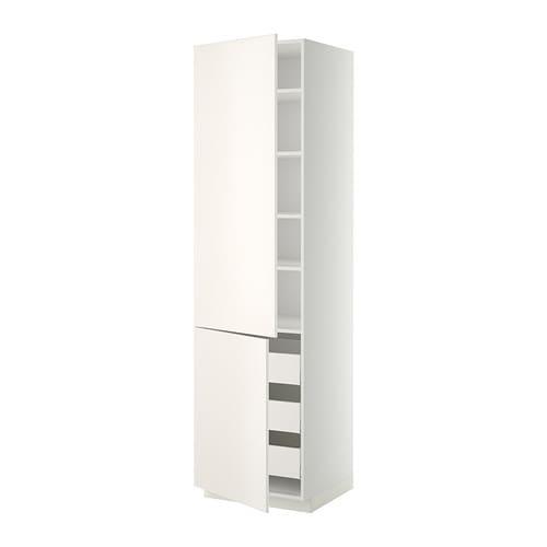 metod maximera lt haut tablettes 3tiroirs 2portes blanc veddinge blanc 60x60x220 cm ikea. Black Bedroom Furniture Sets. Home Design Ideas
