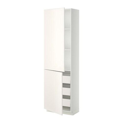 metod maximera lt haut tablettes 3tiroirs 2portes blanc veddinge blanc 60x37x200 cm ikea. Black Bedroom Furniture Sets. Home Design Ideas