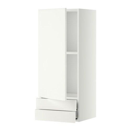 metod maximera lt mural avec porte 2tiroirs blanc h ggeby blanc 40x100 cm ikea. Black Bedroom Furniture Sets. Home Design Ideas