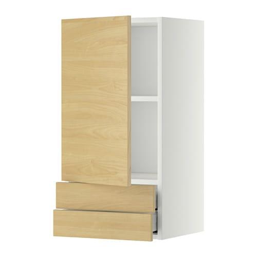 Metod maximera lt mural avec porte 2tiroirs blanc tingsryd motif boulea - Ikea amortisseur porte ...
