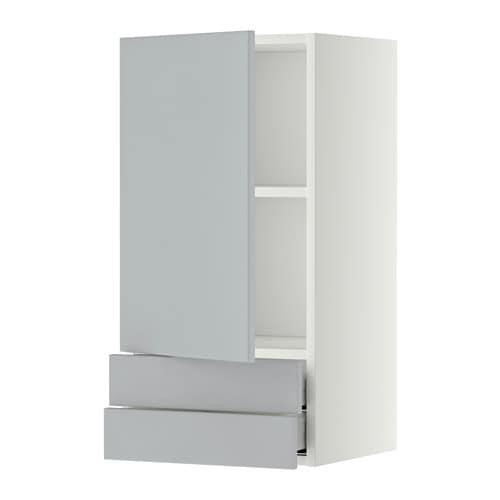 Metod maximera lt mural avec porte 2tiroirs blanc for Porte essuie tout mural ikea