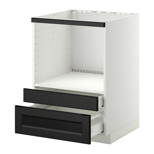 metod maximera meuble pour micro combi tiroirs blanc laxarby brun noir ikea. Black Bedroom Furniture Sets. Home Design Ideas