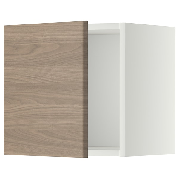 METOD Rangement mural, blanc/Brokhult gris clair, 40x40 cm