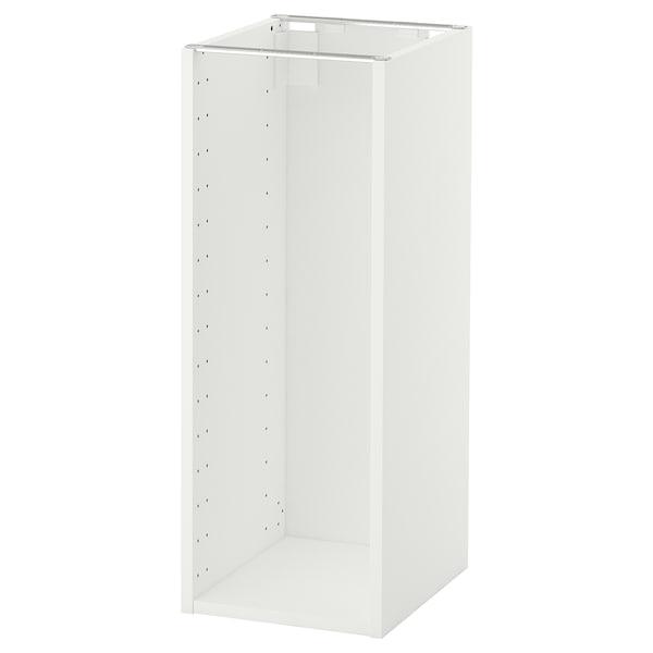 METOD Structure élément bas, blanc, 30x37x80 cm