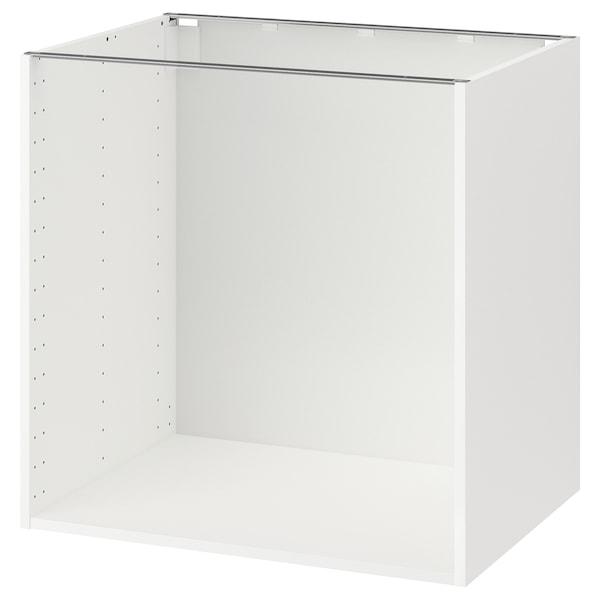 METOD Structure élément bas, blanc, 80x60x80 cm