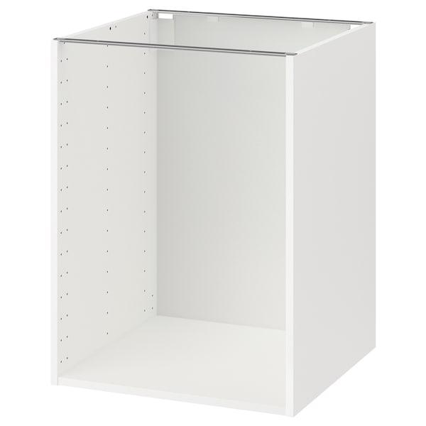 METOD Structure élément bas, blanc, 60x60x80 cm