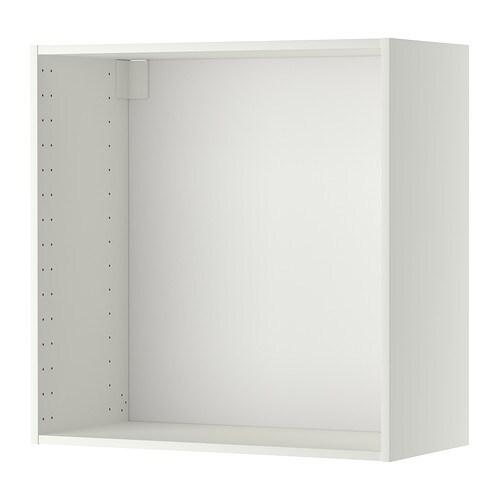 METOD Structure élément mural , blanc Profondeur avec rail de suspension: 37.6 cm Système, profondeur: 37.0 cm Hauteur: 80.0 cm Largeur: 80.0 cm / 80.0 cm