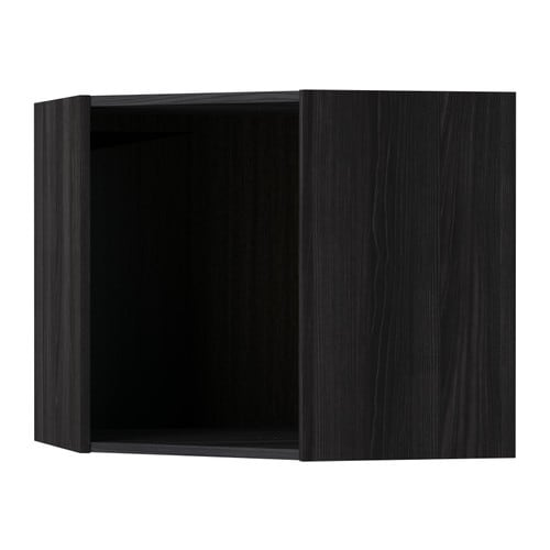 metod structure l ment mural d 39 angle effet bois noir 68x68x60 cm ikea. Black Bedroom Furniture Sets. Home Design Ideas