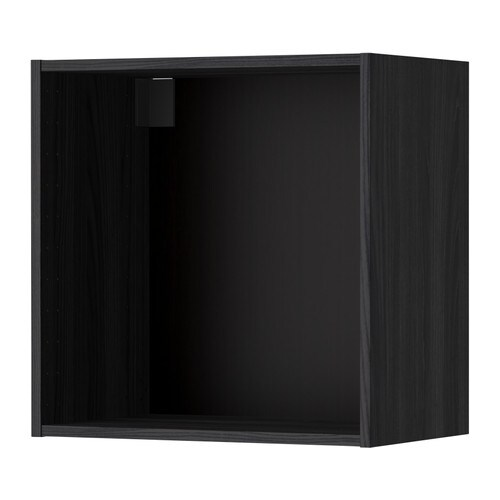 metod structure l ment mural effet bois noir 60x37x60 cm ikea. Black Bedroom Furniture Sets. Home Design Ideas